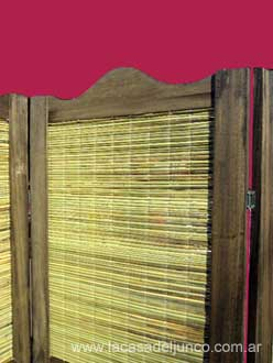 biombos en junco y madera o hojas de x cm cada una