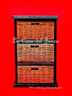 Muebles junco madera - Cajones de mimbre ...