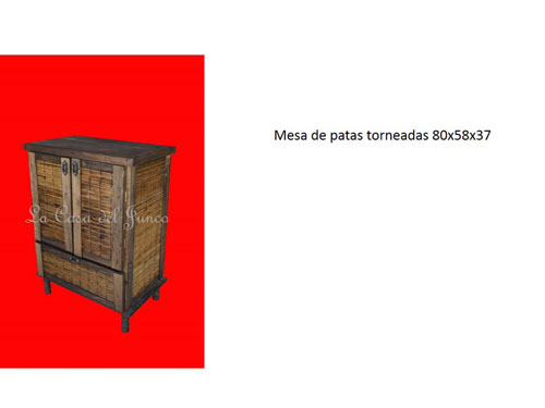 muebles junco madera